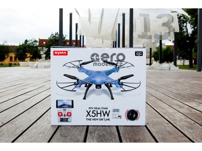 Syma X5HW 2,4 Ghz S WiFi kamerou a barometrickým výškoměrem modrá