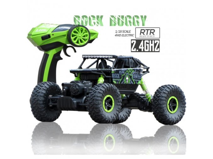 Climbing car Rock Crawler 1:18 RTR zelený