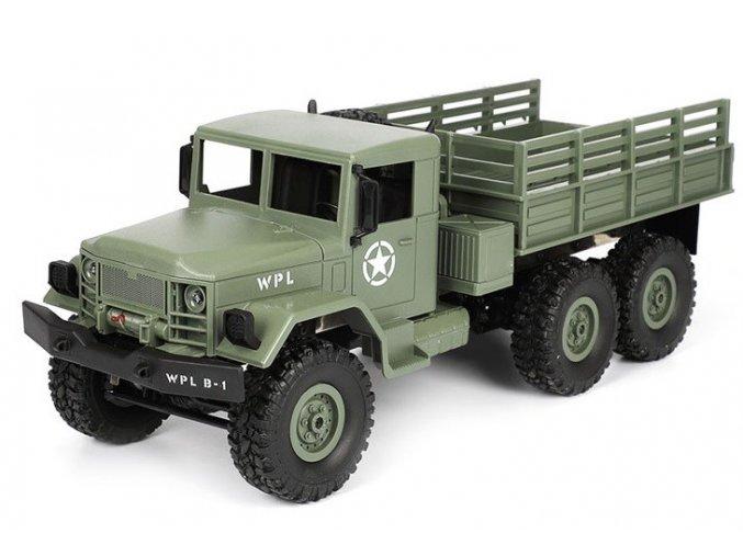 WPL: Vojenský automobil 1:16, 4x4 (Farba Zelená)