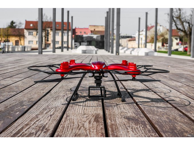 RC DRON MJX X102H RTF (2.4GHz, 4CH, gyroskop, barometr, headless) - červená
