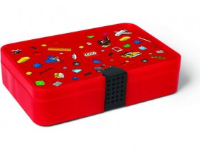 LEGO Iconic úložný box s přihrádkami - červená LEGO40840001