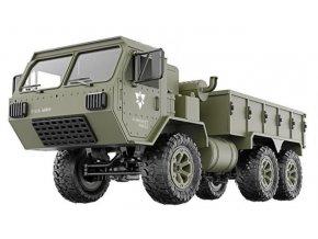 124262 5 vojensky nakladny automobil p801 1 16 6x6 2 4 ghz rtr zeleny