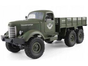 124268 5 vojensky transportny vozik 1 16 6x6 2 4 ghz rtr zeleny