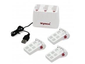 Nabíječka na 3 baterie  pre Symu  X5UW / X5UW-D