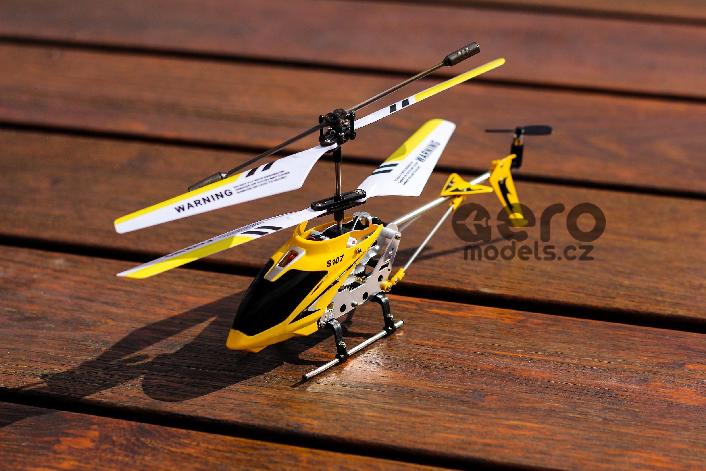 RC modely, RC vrtulníky, RC auta, na dálkové ovládání- RC VRTULNÍK SYMA S107, ŽLUTÁ