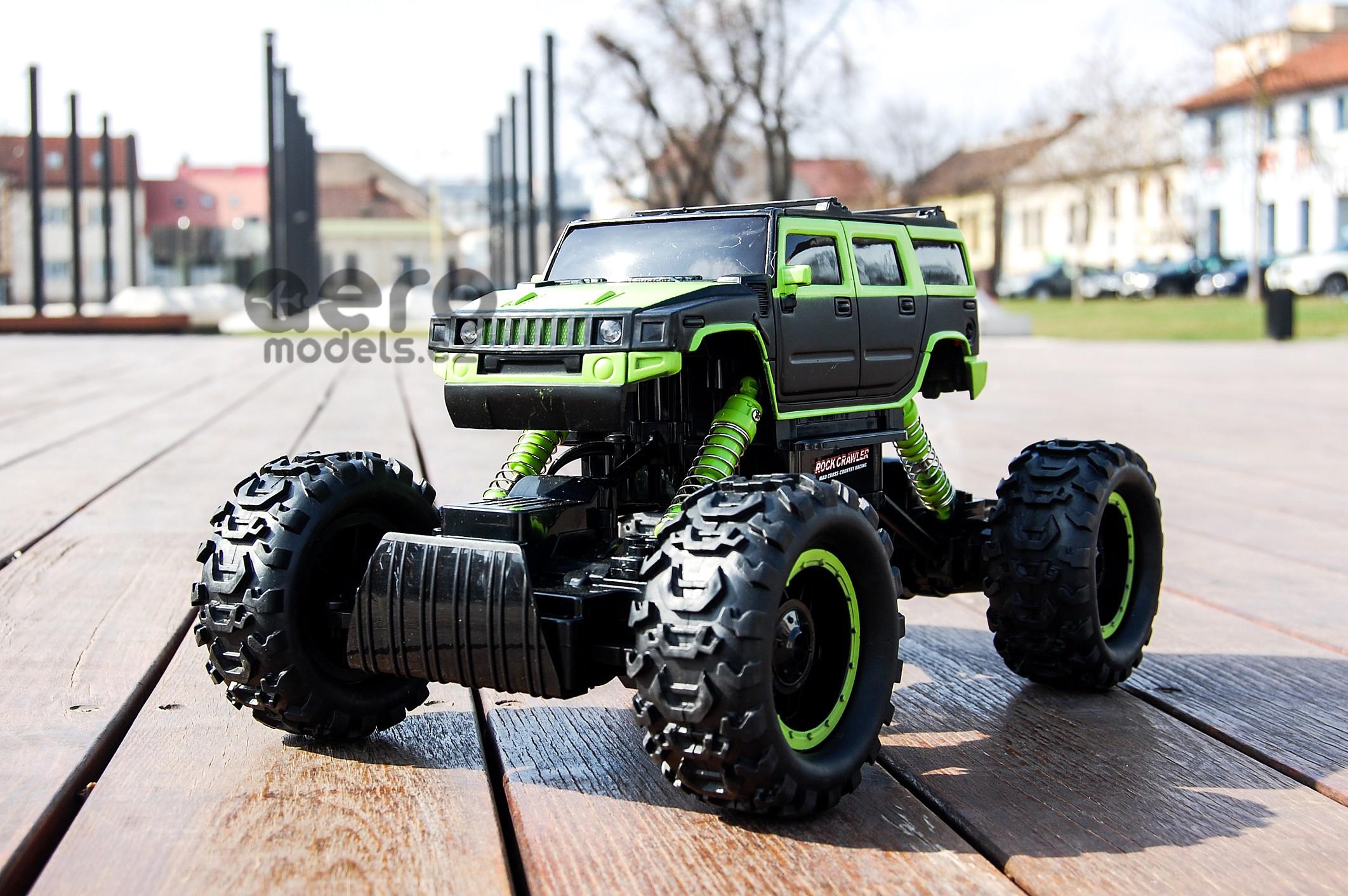 RC modely, RC vrtulníky, RC auta, na dálkové ovládání- Hummer Truck Maistro Rock Crawler, který zdol