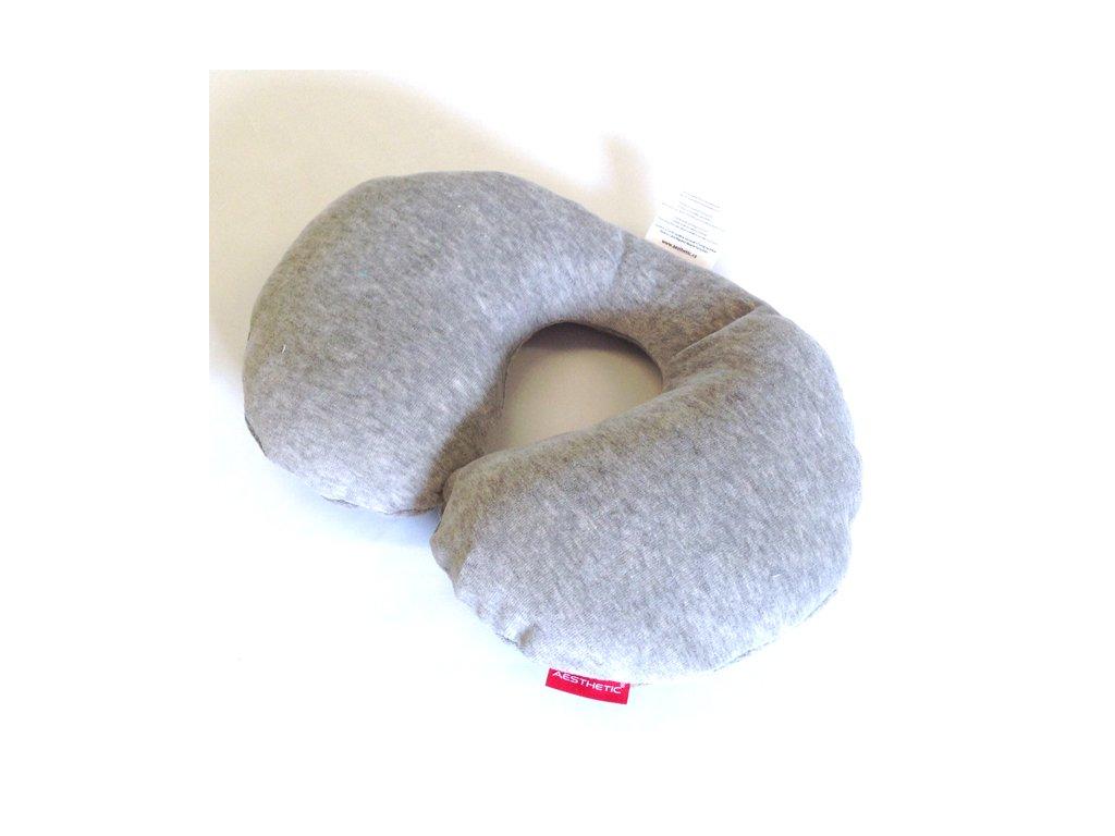 Bezpečnostní nákrčník bavlněný velur - šedá melange - Aesthetic Store cab7f93af8