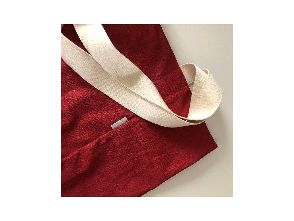 aesthetic taska lnena L cervena 640