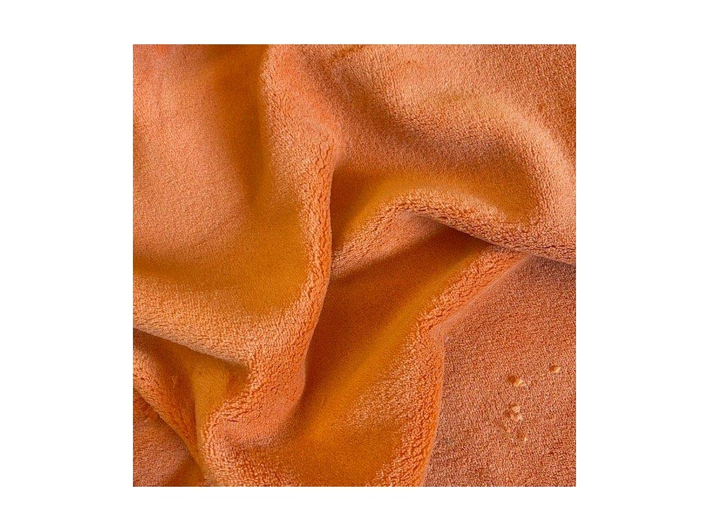 Mikroplyš (wellsoft) oboustranný - oranžová