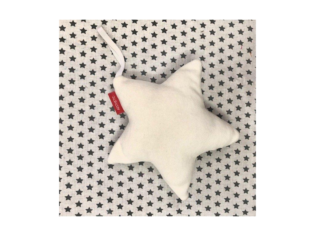 Hvězda závěsná - na hraní - smetanová