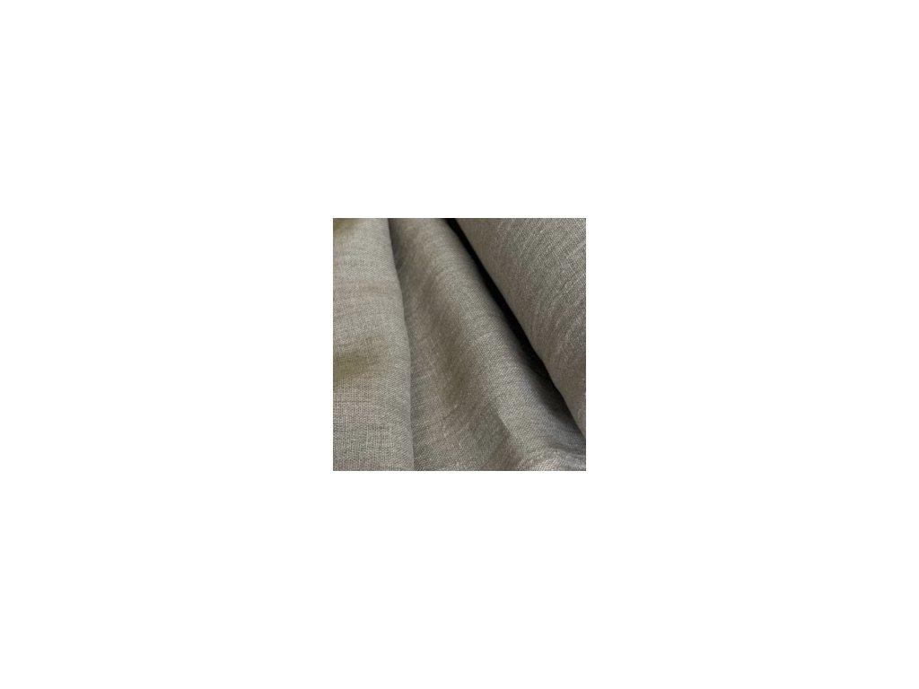 Lněný plášt KIMONO UNI 100% len - černá
