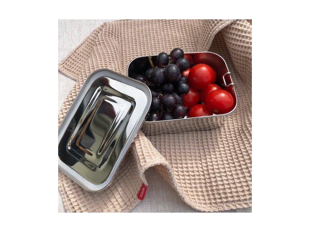 Nerezová dóza na potraviny - lunchbox s těsněním 1050 ml, 17 x 13 x 7cm