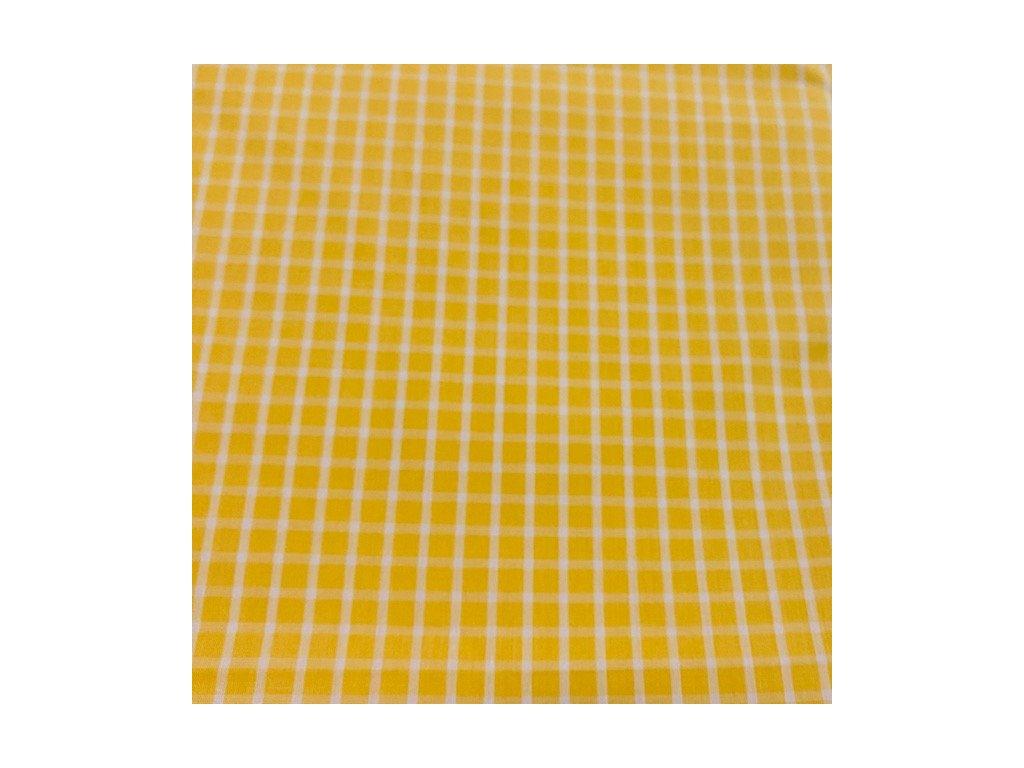 Plátno - kostička velká žlutá 150x180cm