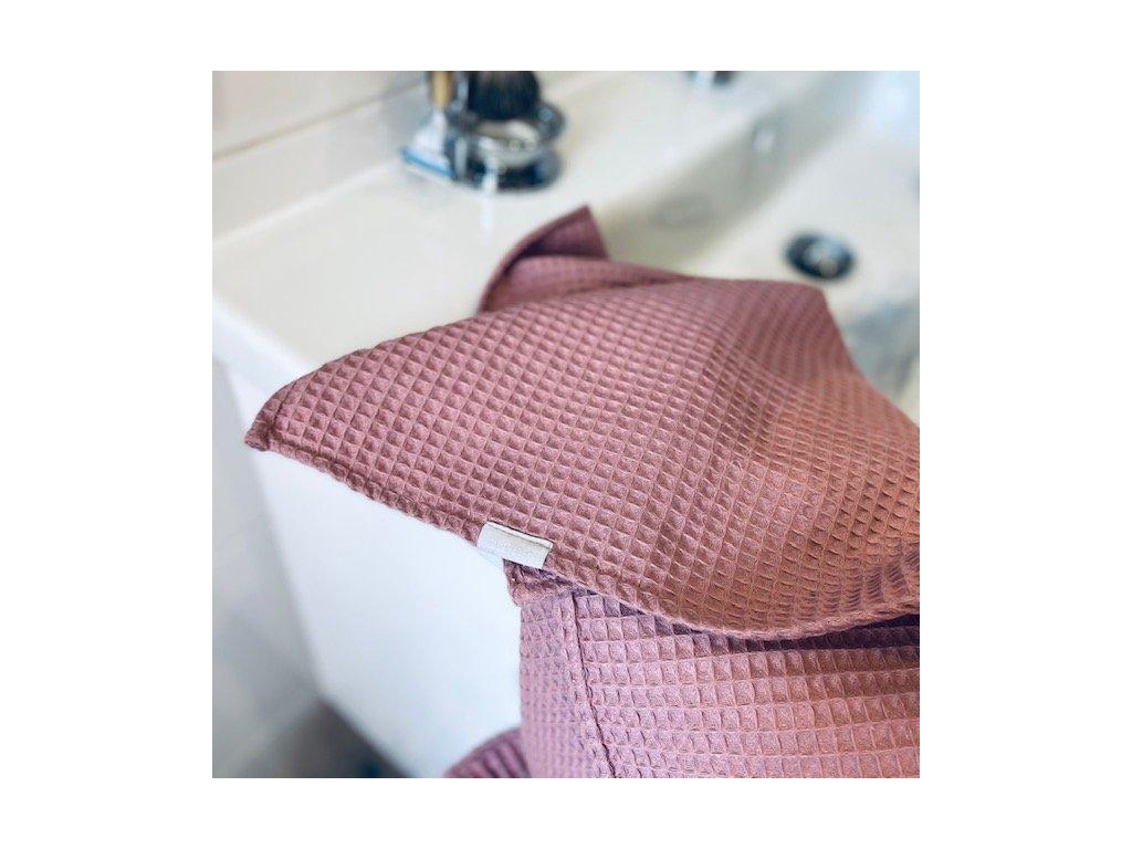 Bavlněný ručník/osuška s vaflovým vzorem - Lilac