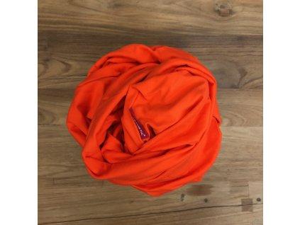 Prostěradlo do dětské postýlky - oranžová - bavlněný úplet s elastanem 70x140 cm, MIX barev