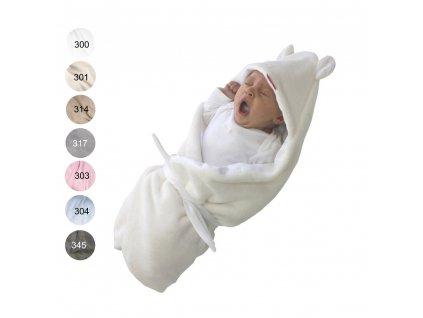 Rychlozavinovačka s kapucí novorozenecká - Letní - Mikroplyš / bavlna - 72x72cm