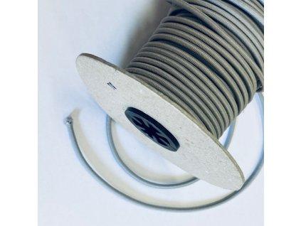 Kulatá pruženka pr. 2mm- světle šedá