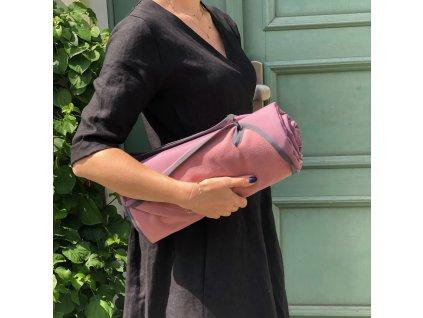 Softshellová pikniková deka - Lilac