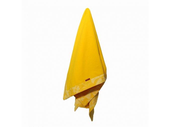 AKCE - Deka dětská letní celobavlněná Hawai žlutá 80x120cm