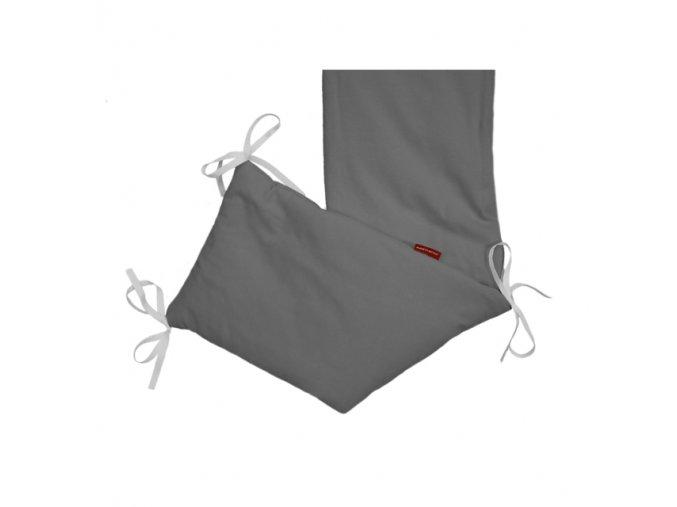 Mantinel do postýlky - bavlna - šedá střední 20x180cm