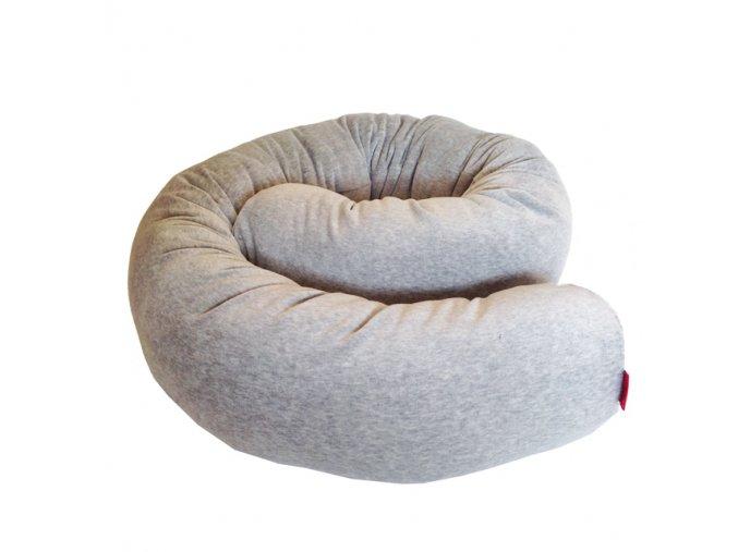 aesthetic relaxacni kojici valec velur bavlna seda 640