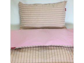 Povlečení dětské - proužek francouzský/ růžová - EU 100x135, 40x60 cm