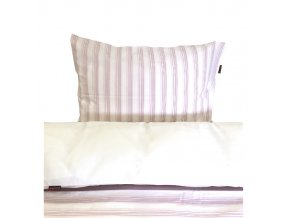 Povlečení dětské - proužek růžový - CZ90x130, 45x60 cm