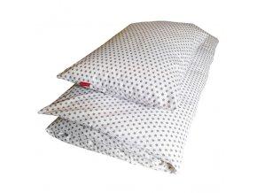 Povlečení dětské - STAR šedá na bílé - EU 100x135, 40x60cm
