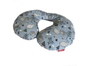 Bezpečnostní nákrčník bavlna plátno - bunny modrá