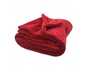 Deka zimní oboustranná - červená/červená