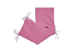 Mantinel do postýlky - bavlna- růžová střední 20x180cm