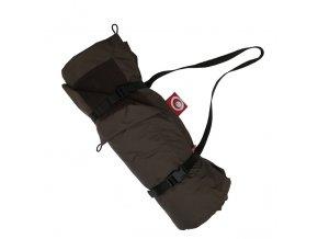 Pikniková deka - hnědá / hnědá čokoládová 140x200 cm
