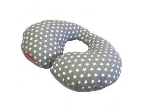 Bezpečnostní nákrčník bavlna plátno - hvězdička na šedé