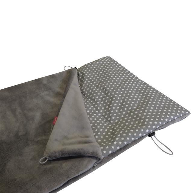 Fusak jarní - šedá střední mikroplyš / Star bílá na šedé