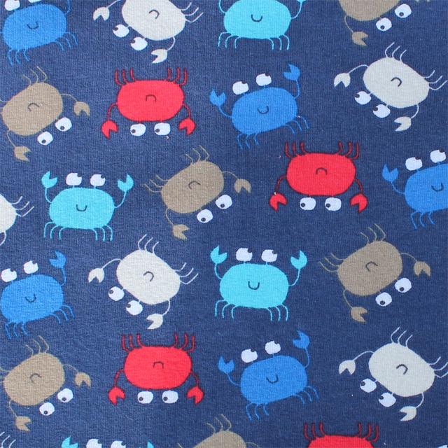 Prostěradlo do kočárku bavlněné - MIX vzorů 32x75cm Barva: Krab modrý