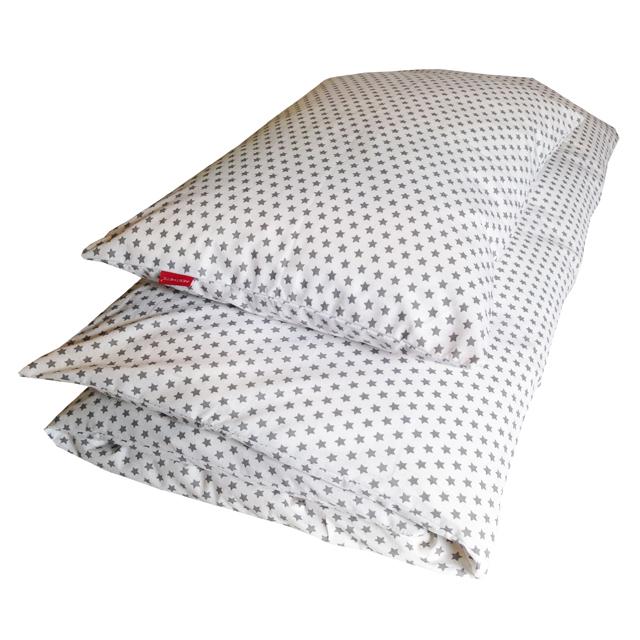 Povlečení dětské - STAR šedá na bílé - EU 100x135, 40x60 cm