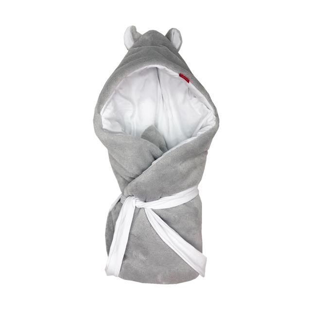 Rychlozavinovačka s kapucí novorozenecká Mikroplyš smetanová - bavlna bílá 72x72cm Barva: s výplní - (zimní výbava)