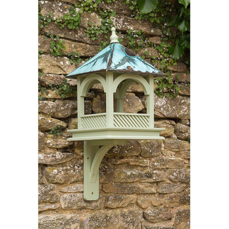 Ptačí krmítko s měděnou střechou - velké