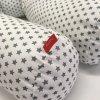 Víceúčelový válec pro miminko a maminku bavlněné plátno 150 cm - hvězdička šedá na bílé