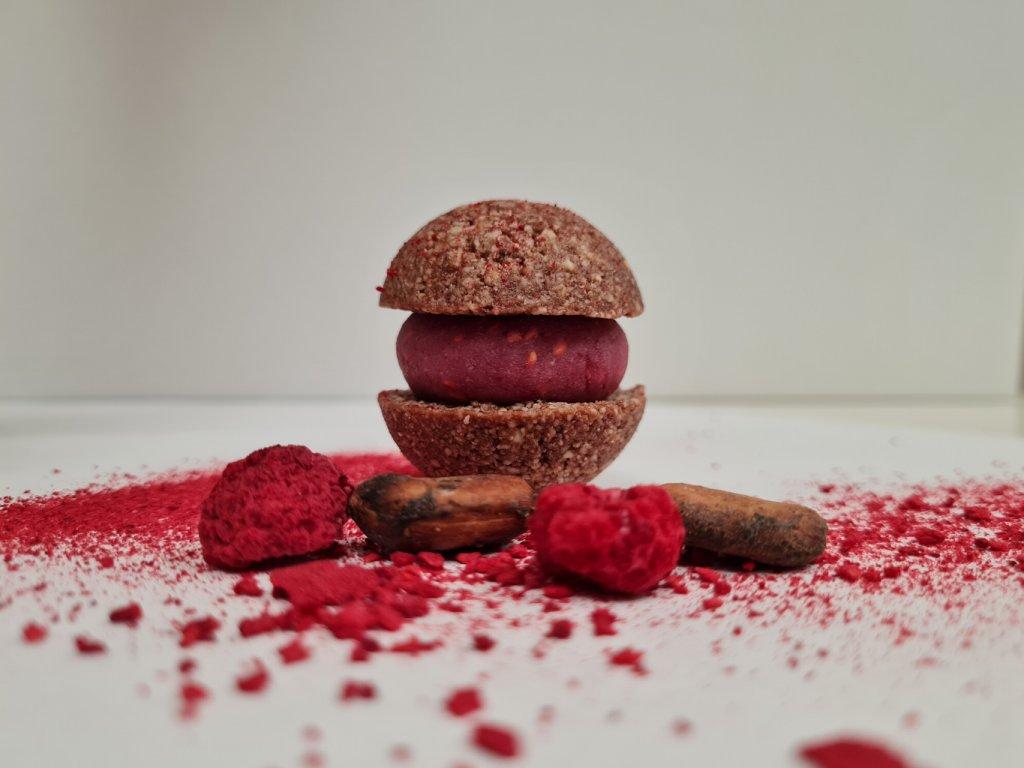 cokoladovo malinova makronka eshop1