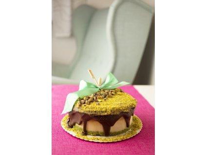 kokosovo pistaciovy dort s polevou
