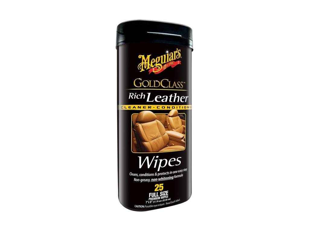 68948 meguiar s gold class rich leather wipes ubrousky na udrzbu prirodni i umele kuze 25 ks