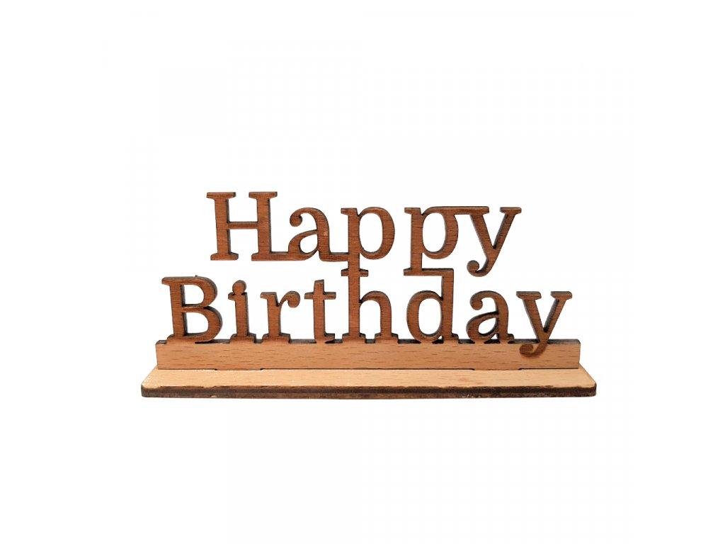 drevo napis happy birthday