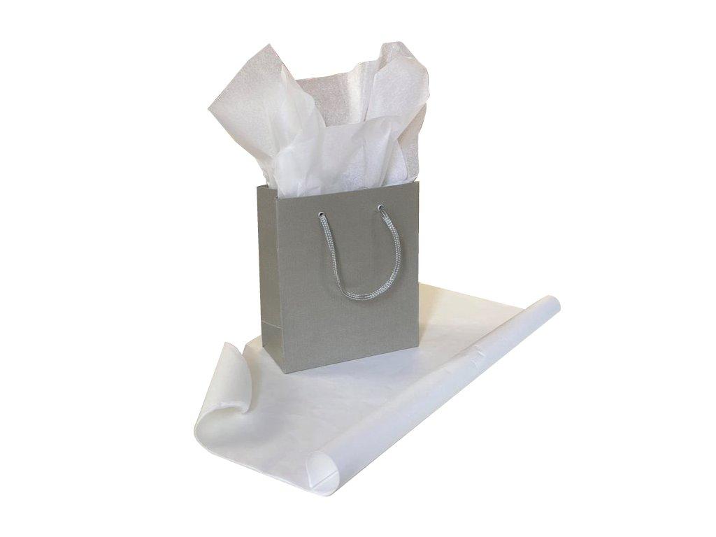Hedvábný papír Bílý