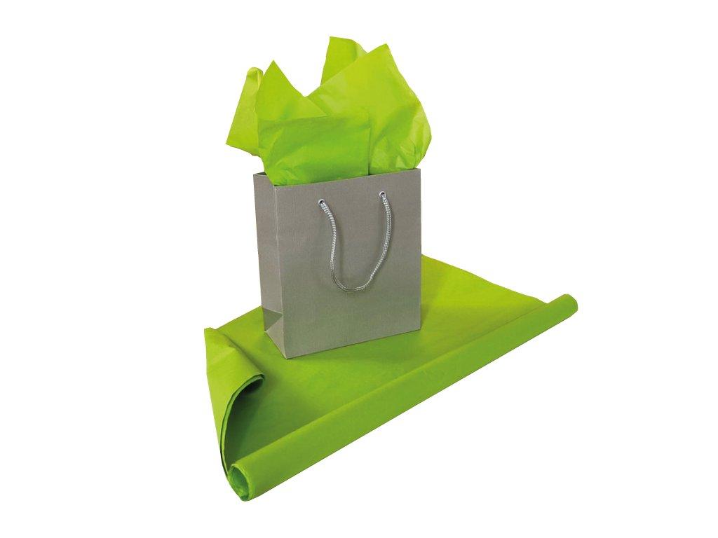 Hedvábný papír Světle zelená