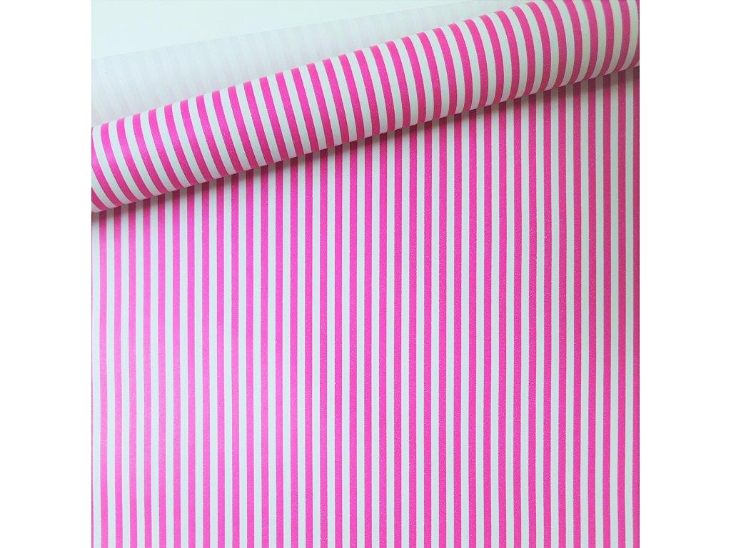 Balici papir arch ruzove pruhy tenke