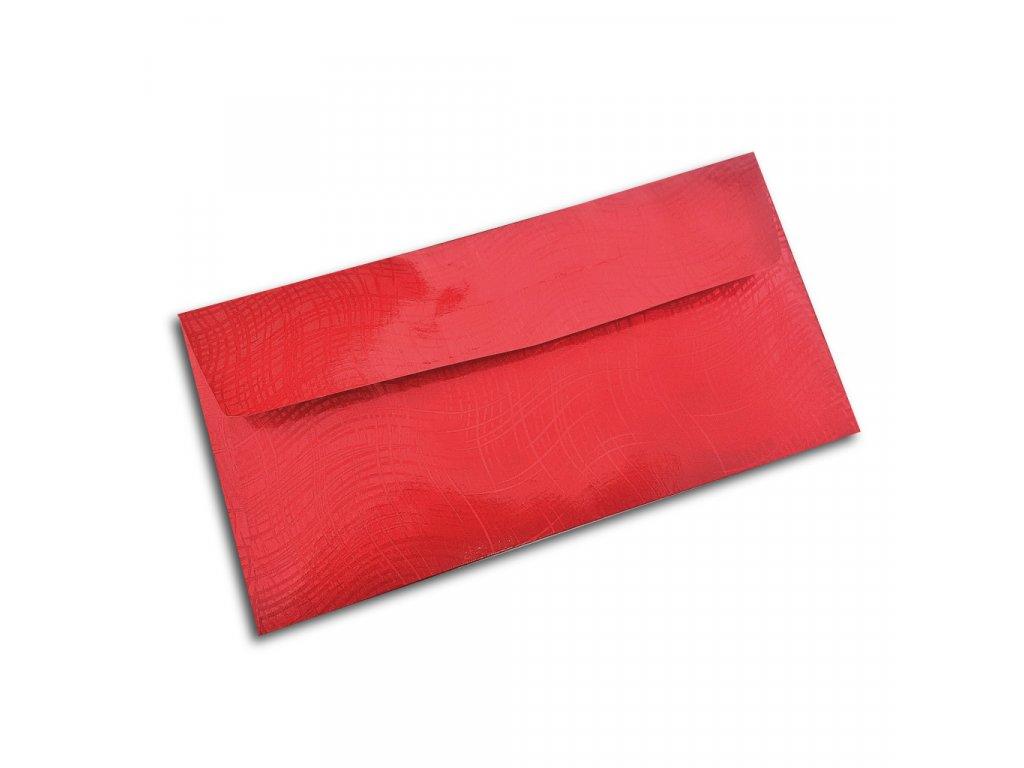 darkova obalka na penize cervene vlnky lux