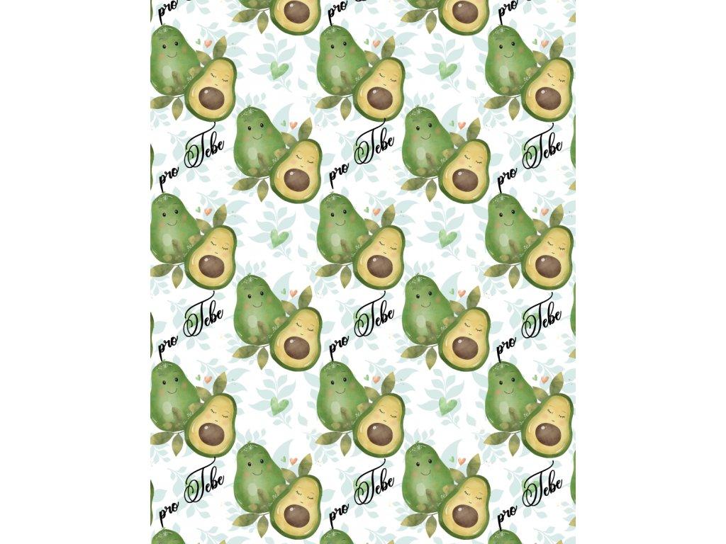 avocado balici papir vlastni potisk