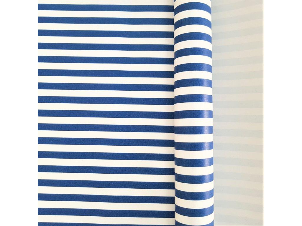 balici papir pruh modry
