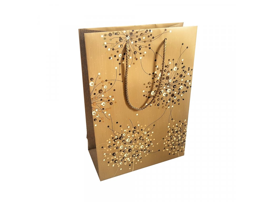 Darkova taska zlata s kvety